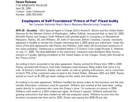 Employees of Self Proclaimed Prince of Pot Plead Guilty