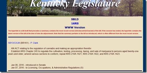 SB13 Ky Cannabis Freedom Act